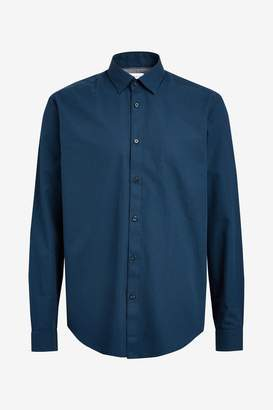 Esprit Mens Blue Shirt With Micro Structure - Blue