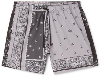 Amiri Mid-Length Bandana-Print Swim Shorts