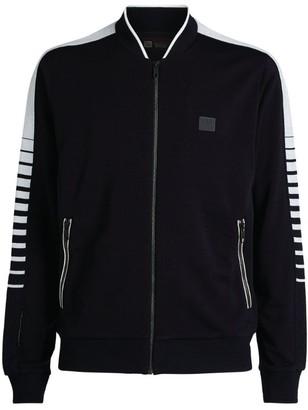 Ermenegildo Zegna Wool Side-Stripe Zip-Up Jacket