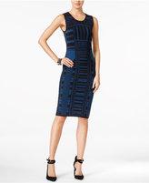 Bar III Intarsia-Knit Bodycon Dress, Only at Macy's
