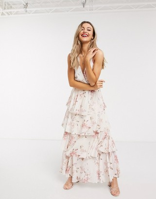 Ever New halter neck maxi dress in floral print