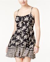 Volcom Juniors' Printed Sleeveless Fit & Flare Dress