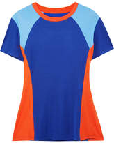 Tory Sport Color-block Coolmax Stretch-cotton Jersey T-shirt - Blue
