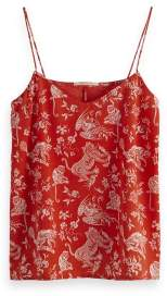 Scotch & Soda With Jersey Back Coral Camisole - xlarge - Red/Pink