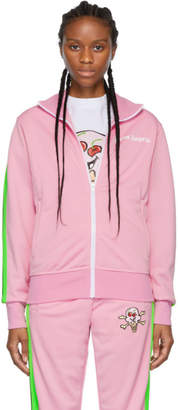 Palm Angels Pink ICECREAM Edition Skull Track Jacket