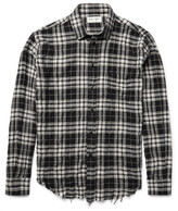 Saint Laurent - Slim-fit Checked Cotton-blend Shirt