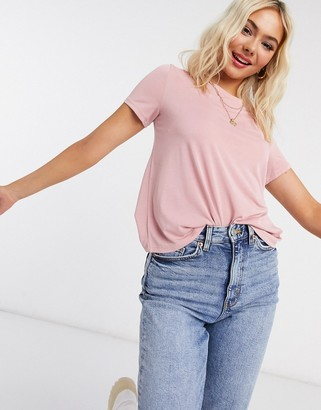 Monki Jolin recycled polyester t-shirt in rose