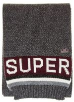 Superdry New Mens Grey Super S.D. Logo Acrylic Scarf