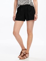 "Old Navy Mid-Rise Soft Pull-On Utility Shorts for Women (4"")"