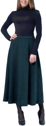 Lila Kass Wool-Blend Skirt