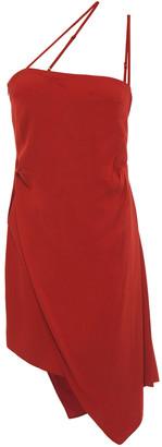 Mason by Michelle Mason Asymmetric Stretch-crepe Mini Dress