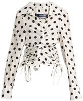 Jacquemus Polka-dot print ruched blouse