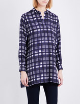 Joseph New Dara checked crepe de chine blouse