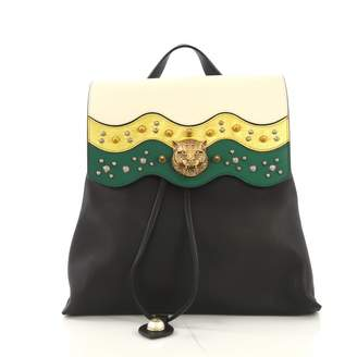 Gucci Animalier Multicolour Leather Backpacks