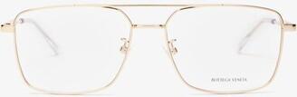 Bottega Veneta Navigator Metal Glasses - Gold