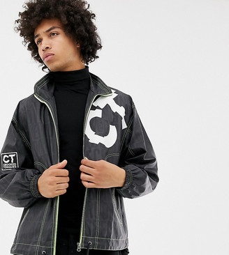 Crooked Tongues windbreaker in logo print