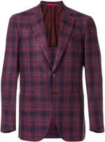 Isaia checked suit jacket
