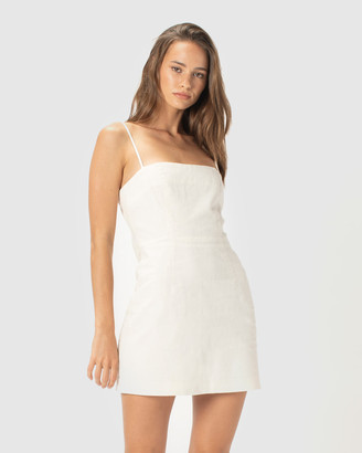 Cools Club - Women's White Mini Dresses - Fitted Shift Dress - Size One Size, 14 at The Iconic