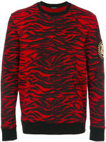 Balmain tiger print sweatshirt - men - Cotton/Brass/copper - S