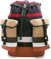 Burberry 'Mini May' checked backpack - kids - Cotton/Leather - One Size