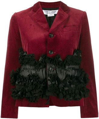 Comme des Garcons frilled panel single-breasted blazer