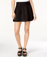 Material Girl Juniors' Belted Skater Skirt, Only at Macy's