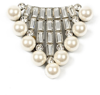 Ben-Amun Crystal Baguette & Pearly Brooch