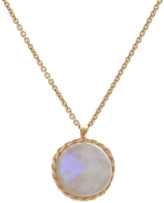 Harry Rocks Love Charm Layering Necklace Gold & Moonstone