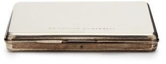 Brunello Cucinelli Logo-engraved Passport Holder - Silver