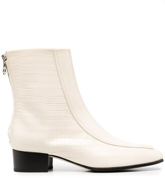 AEYDĒ Rear-Zip Ankle Boots