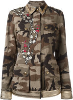 History Repeats embroidered camouflage print jacket