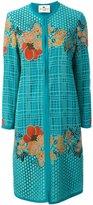 Etro floral macrame coat