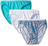 Fruit of the Loom Women's 3 Pack Assorted Cotton Bikini Panties