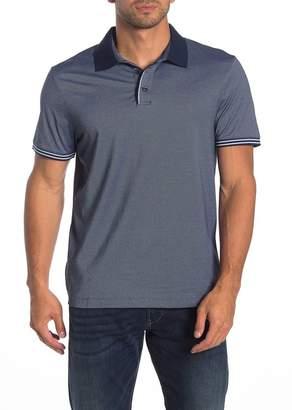 Perry Ellis Short Sleeve Stripe Cuff Polo
