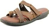 Minnetonka Camas Women Ww Open Toe Leather Brown Slides Sandal.