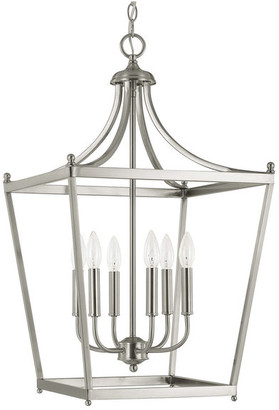 Capital Lighting Fixture Co. Capital Lighting 9552BN Stanton 6-Light Foyer, Brushed Nickel