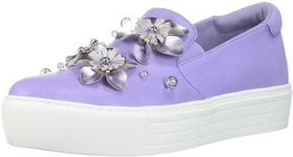 Kenneth Cole Reaction Women's Cheer Floral Applique Platform Slip On Sneaker
