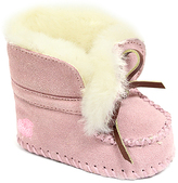 Lamo Pink Suede Moccasin Bootie - Infant