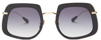 KALEOS Barton Square Acetate Sunglasses - Black