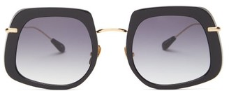 Kaleos - Barton Square Acetate Sunglasses - Womens - Black
