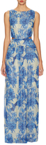 Nicole Miller Queen of The Night Floral Gown