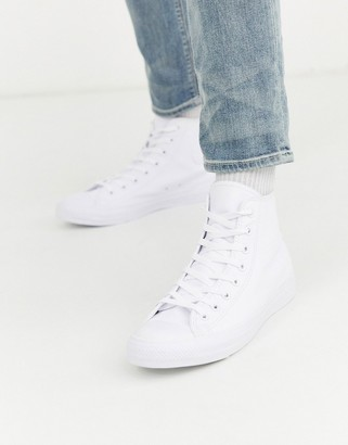 Converse Chuck Taylor All Star leather plimsolls in white