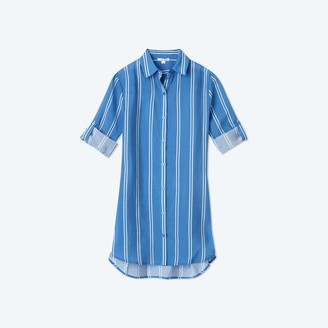 Summersalt The All Buttoned Up Cover-Up - French Stripe in Indigo
