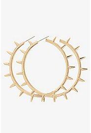Torrid Gold Spike Hoop Earrings
