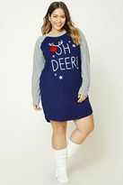 Forever 21 FOREVER 21+ Plus Size Oh Deer Nightdress