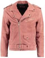 12 Midnight CLASSIC BIKER Leather jacket pink