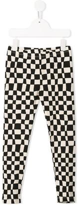 Noë & Zoë check print trousers