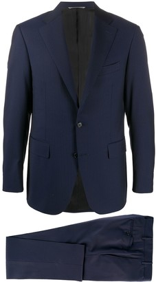Canali Regular Fit Striped Two Piece Suit