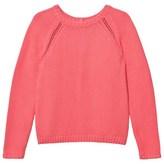 Cyrillus Pink Knit Button Back Detail Jumper