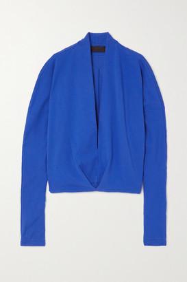 Haider Ackermann Draped Cotton-jersey Top - Blue